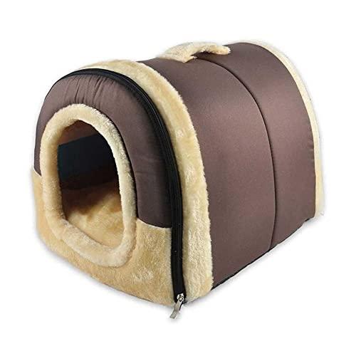 ZHANGCHI Tienda/casa Cubierta for Gatos, Gatitos y Mascotas pequeñas con Camas de Perro Removibles for Perros pequeños, Suave Mullido cálido y Acogedor (Size : L)