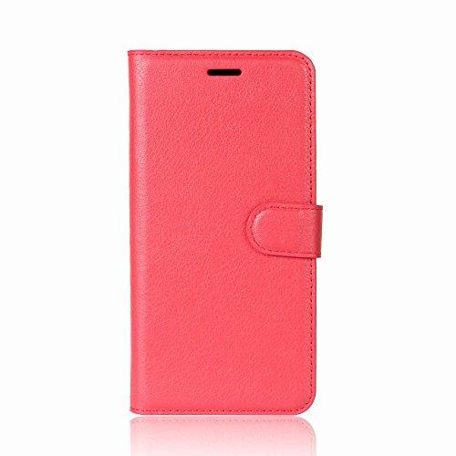 ROCKWEY Für Oukitel K5 Hülle, Mobile Phone Flip Wallet Leather Hülle Flip Hülle für Oukitel K5-Rote