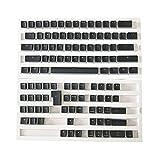 GaYouny KeyCaps Personalizados 1 Set Reemplazable PBT Pudding KeyCaps 108 Teclas De Letras Transparentes Tecla De La Tapa De Doble Tiro para El Teclado Mecánico Keycap Anime (Color : As Shown)