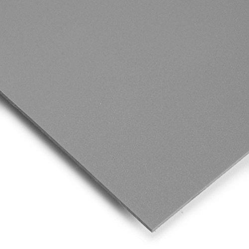 PVC Espumado Plancha Din A3 Medidas 29,7cm x 42cm Grueso 3mm Color gris