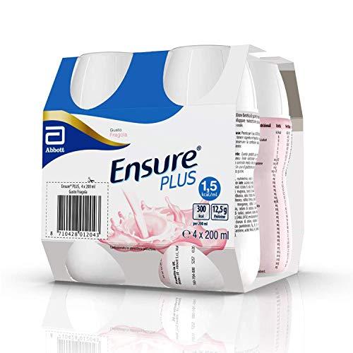 Ensure Plus Supplemento Alimentare Formato Bevanda   Confezione 4x200ml   Gusto Fragola