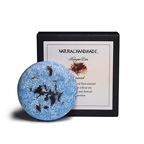 Algenkonditionierungs-Shampoo Bar für Haare, KISSION Bio-Pflanzenessenz Öl Haar Hampoo Seife & Conditioner Handgemachte Seife - Plastikfrei (60g) (Algen)