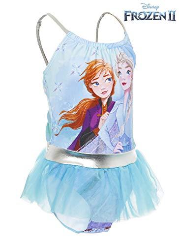 Disney Frozen 2 Bañador para Niña Princesas Anna y Elsa, Trajes de Baño de Una Pieza El Reino del Hielo, Bañadores para Piscina Natacion Vacaciones, Regalos Niñas (7/8 Años)
