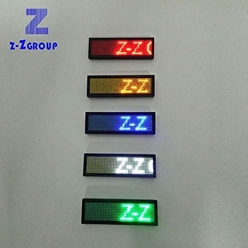Elektronische LED-Anzeige für Visitenkarte, magnetisch, Willkommensanzeige, muss unterstützt werden. weiß