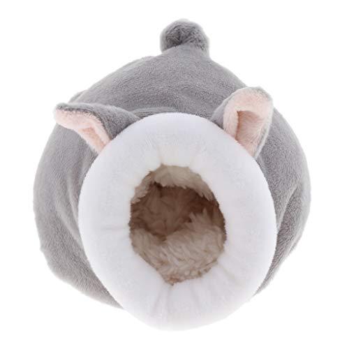 FLAMEER Tierform Kuschelhöhle für Meerschweinchen Hamster Eichhörnchen Chinchilla Ratten Mäuse - Grau