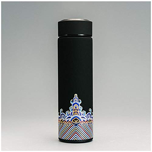 Wgath 500Ml Chinese Stijl Roestvrijstalen Thermoskan Voor Het Drinken Van Thee Met Zetgroep Double Wall Bottle Voor Water Brief Portable Outdoor B