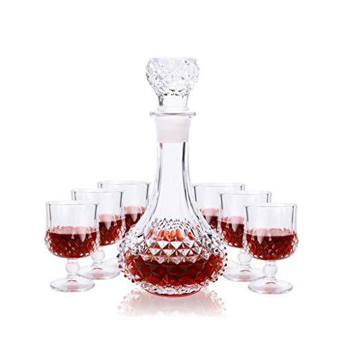 Rollsnownow Netto Rot Kreative Kristall Wein Glas Whisky Glas Brandy Glas Hohe Wein Set Weinflasche Weinflasche 7 Sätze