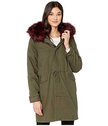 Avec Les Filles Faux Fur Lined 3-in-1 Cotton Parka Olive/Burgundy SM