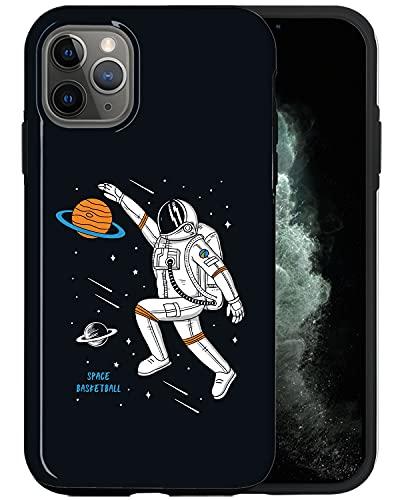 JUSPHY - Funda para teléfono compatible con iPhone 11 Pro Max, diseño de baloncesto espacial animado SP015_5