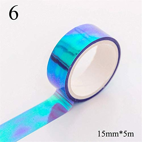 NLJYSH Candy colored decorative scrapbook masking tape (Color : 6)