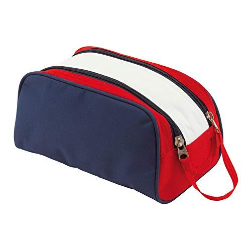 Out BAG CHECK.IN Accessoire de Voyage - Trousse Toilette, Bleu/Rouge Blanc