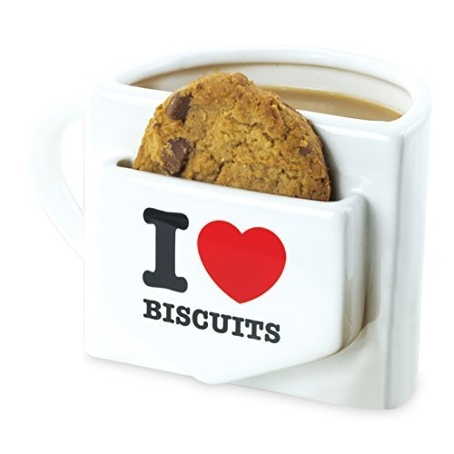 Mugs I Heart Biscuits Mug with A Biscuit Pocket by Mugs