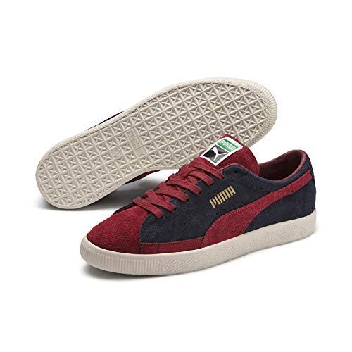 PUMA Suede 90681 VTG Low Boot Sneaker Peacoat-Rot, tamaño:41