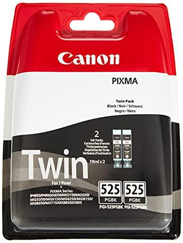 Canon PGI-525 Cartouches BK Noires Pack de 2 (Emballage plastique)