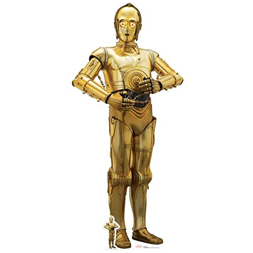 Star Cutouts Ltd Ritaglio C-3PO (L'Ultimo Jedi), Cartoncino, Multicolore, 179 x 80 x 179 cm