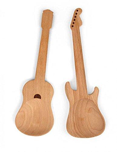 dfp Design / Kikkerland Salatbesteck Gitarre - Schönes Geschenk für Musiker