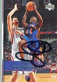 Autograph Warehouse 86964 Jamal Crawford Autographed Basketball Card New York Knicks 2007 Upper Deck No .97