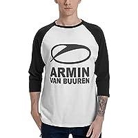 アーミン ヴァン ビューレン メンズ Tシャツ 七分袖 ラグラン 丸首 薄手 快適 ファッション 柔かい おしゃれ ゆったり スポーツウェア 下着 インナー 4季 肌着 シャツ