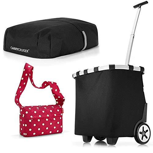 Reisenthel Carrycruiser - Carro de la compra con cubierta y protección visual, color negro