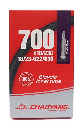 CYT 700x 18?23C/71,1cm Road, Fixie Bike Inner Tube F/V lang Presta, schwarz, 48mm