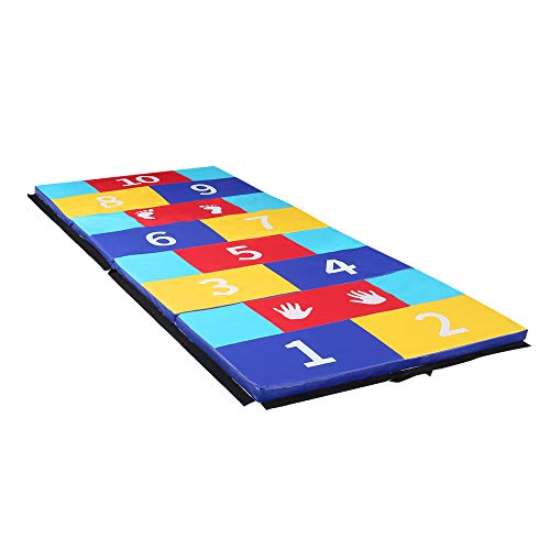 HYD-Parts Folding Gym Gymnastics Mat, 4x10 Tumbling Mats for Home Kids Exercise Fitness Large Floor Mats