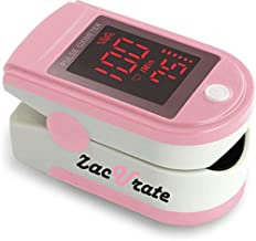 Zacurate Pink Series Fingertip Pulse Oximeter and Blood Oxygen Saturation Monitor (Blushing Pink)