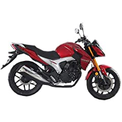2020 Version Lifan KP200 Street Motorcycle brought by Moto Pro. Lifan KP200 Street Motorcycle bike with fully assembled. 100/80-17 front and 130/70-17 rear Alloy Rim tires offer great traction. Free Two-year Powertrain warranty and 12 Months fender t...