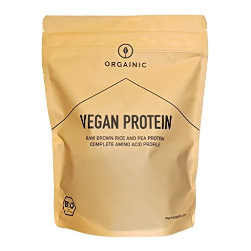 ORGAINIC Bio Vanille Vegan Protein - Reis- und Erbsenprotein - Bio Zertifiziert - 700 g
