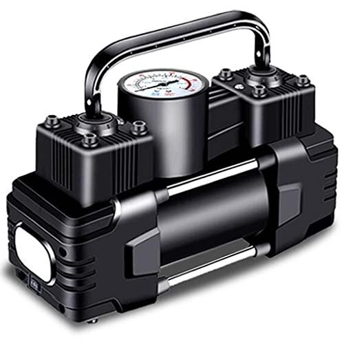 YCDJCS Inflador De Neumáticos De Coche Eléctrico Ligero Y Portátil con Luz LED Bomba De Aire De Doble Cilindro De Alta Potencia De 12V para Coches SUVs para compresores de Aire