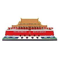 世界的に有名な歴史的建造物マイクロダイヤモンドブロック中国北京天安門スクエアビルブリックナノブリックおもちゃコレクション (Size : 55.8CM*32CM*21.5CM)