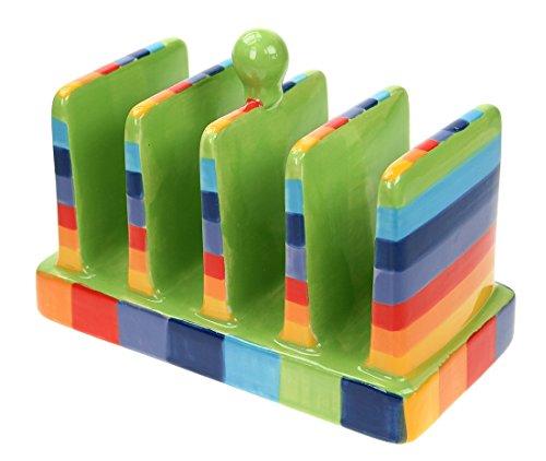 Windhorse Rainbow - Tostadas de cerámica con rayas