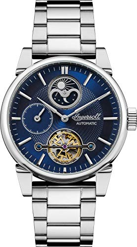 Ingersoll The Swing Mens Automatic Watch I07501 with a Blue Dial and a Silver Stainless Steel Band