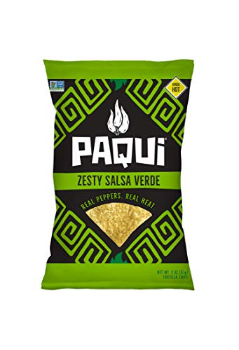 Paqui Tortilla Chips, Gluten Free Snacks, Non-Gmo, Cool Salsa Verde, 2oz (Pack Of 6)