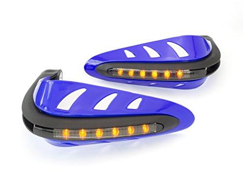 Blu Integrato Quad Moto Bicicletta LED Paramani Protezioni Costruito in Indicatori