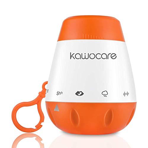 KAWOCARE - Schlafhilfe für Baby mit 6 Beruhigenden Sounds - Effektive Schlafhilfe für Neugeborene - Natürliche Geräusche für mehr Entspannung - Angenehme Schlaflieder mobil