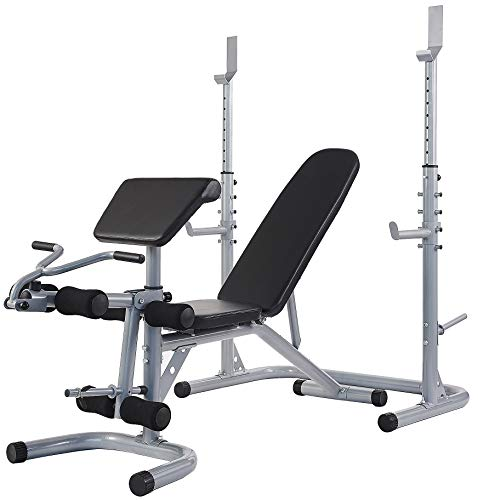 BalanceFrom RS 60 Multifunctional Workout Station Adjustable Olympic Workout Bench