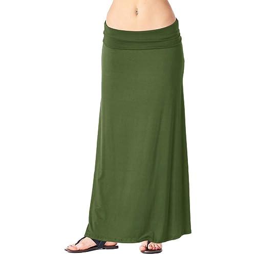 072bafc3562 Popana Womens Casual Long Convertible Print Maxi Skirt Plus Size - Made in  USA