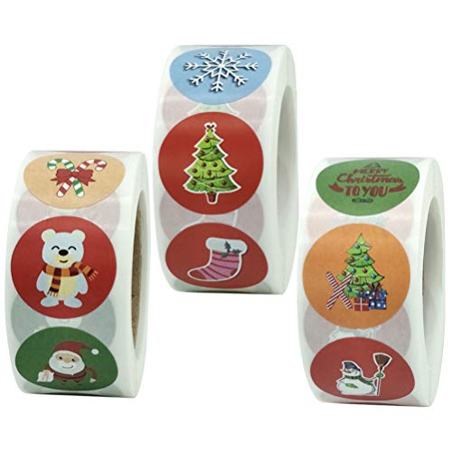 Etiquetas Navidad Adhesivas 1500 Marca Angoily