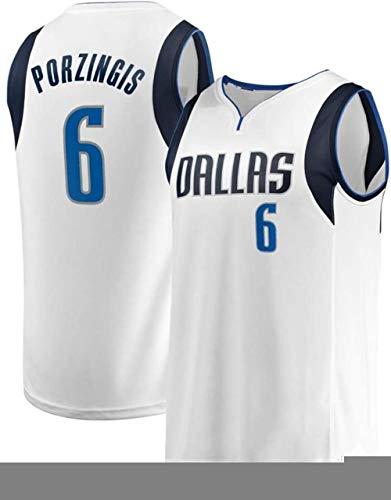Zxwzzz NBA Mavericks Porzingis No.6 Camiseta De Baloncesto Clásica Sudadera De Malla Transpirable De Los Hombres Chaleco De La Camiseta De Secado Rápido De Ropa Deportiva De Competencia
