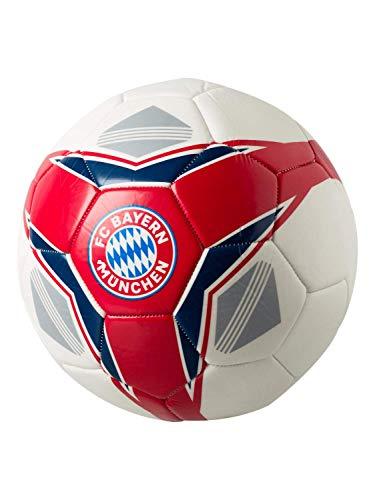 FC Bayern München - Pallone da calcio, colore: rosso/bianco