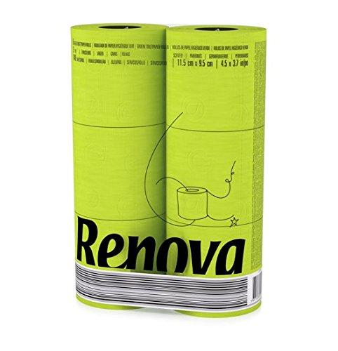 24 Rollen Renova farbiges Toilettenpapier - Grün
