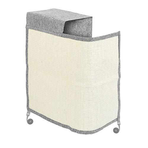 Navaris Rascador para Gatos - Protector para Esquina de sofá o sillón - Afilador de uñas de sisal para Mascotas - para el Lado Derecho en Gris