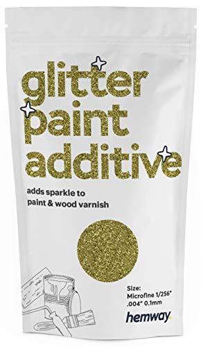 Hemway Microfina Pintura con purpurina aditiva emulsión a base de agua, 100 g (oro arena)