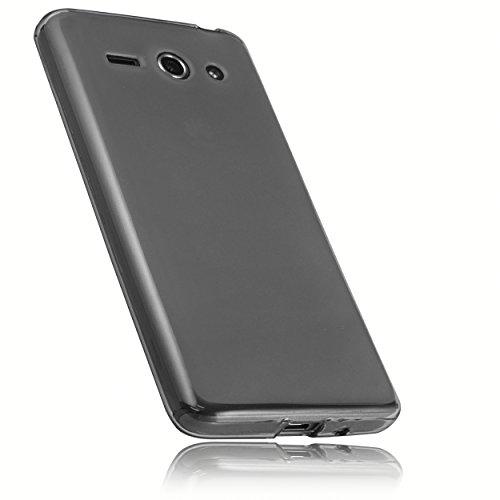 mumbi Hülle kompatibel mit Huawei Ascend Y530 Handy Hülle Handyhülle, transparent schwarz