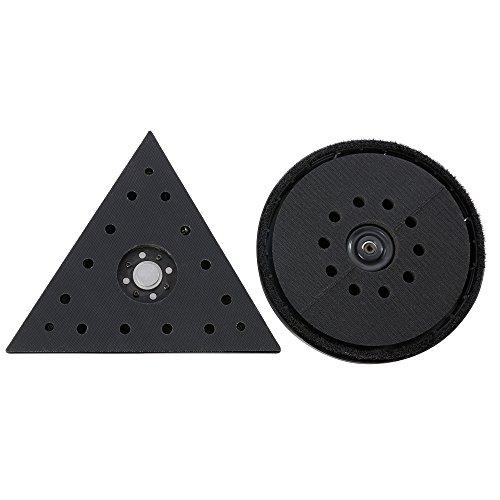 AREBOS Ponceuse à bras (710 watt, Ø 225 mm, régulation de vitesse, bras télescopique, système d'aspiration intégré, 6 disques abrasifs et boîte inclus (Avec delta et tête de ponçage disque)
