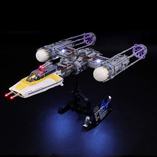 Kit de iluminación LED Compatible para Lego 75181, Conjunto de Luces para Star Wars Y-Wing Starfighter Set Model Building Blocks Regalo para niños y Adultos, USB y batería alimentada (Solo luz)