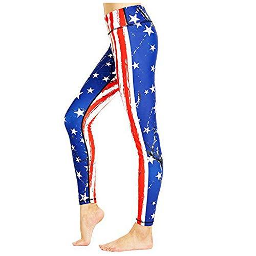 Pantalones largos de yoga con estampado de rayas de alta cintura y cintura alta, para mujer
