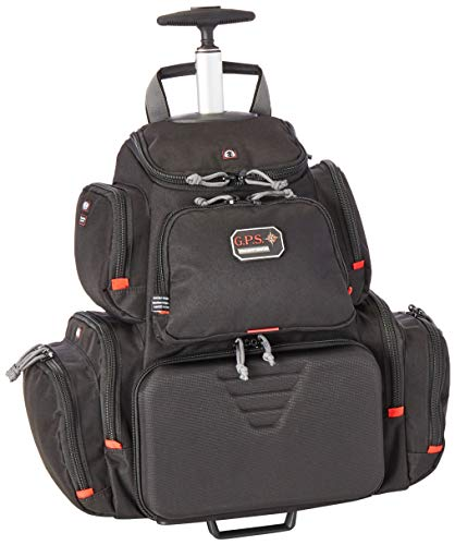 G5 Outdoors G.P.S. GPS-1711ROBP Rolling Handgunner Backpack, Black,Small