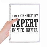 化学の専門家のゲーム 硬質プラスチックルーズリーフノートノート