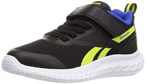 Reebok Rush Runner 3.0 Alt Road Running Shoe, Black/Yellow Flare/Court Blue, 33 EU